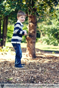 Boy in Wooded Area