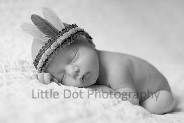 Baby and indian headband