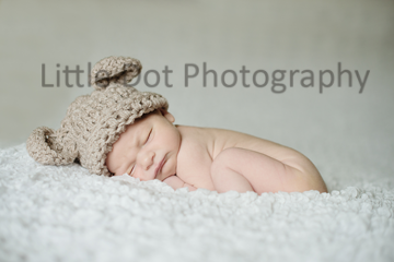 Newborn in bear hat