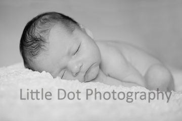Black and white newborn baby boy