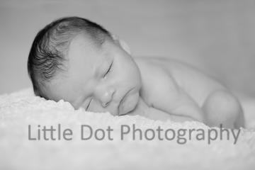 Black and white newborn baby boy