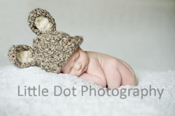 Newborn in rabbit hat